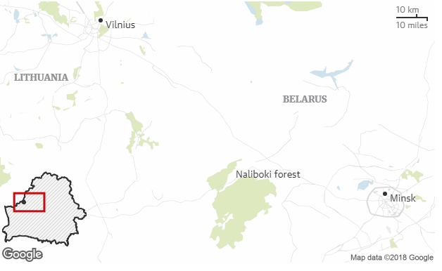 Naliboki, Belarus - Map