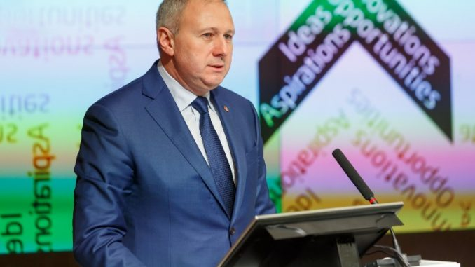Sergey Rumas, the prime minister of Belarus on Crossway18 forum in Minsk