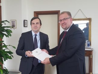 Ambassador Extraordinary and Plenipotentiary of the Republic of Belarus to the Italian Republic, Aleksandr Guryanov, met with the Under-Secretary of State for Foreign Affairs and International Cooperation of Italy, Vincenzo Amendola.