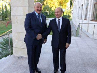 Vladimir Putin and Alexander Lukashenka